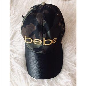 ✨BEBE✨Camo Faux Leather Hat